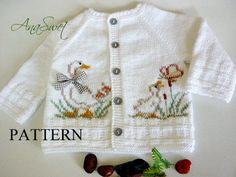 Knitting pattern baby cardigan with Crochet , Knitting pattern baby cardigan with Knit baby pattern.Pattern baby cardigan with örgü. Cardigan Bebe, Knitted Baby Cardigan, Summer Cardigan, White Cardigan, Cardigan Pattern, Pattern Baby, Baby Knitting Patterns, Top Pattern, Baby Patterns