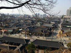 View of Jeonju Hanok village of Korea
