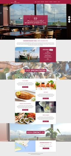 Havenrestaurant Texel #website #webdesign #design