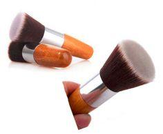 Pincel de Maquillaje profesional Brush Flat Top Kabuki Powder Foundation belleza Cosmética maquillaje Herramienta Pinceles De Madera