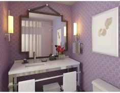 Hotel Palomar Philadelphia bathroom - wallpaper