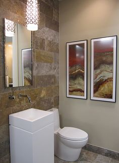 Modern Travertine Bathroom