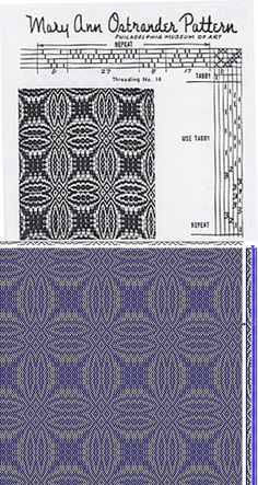 Mary Ann Ostrander Pattern | overshot | 4-shaft, 6-treadle