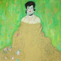""""""" Gustav Klimt - Portrait of Amalie Zuckerkandl """" """"Die Unvollendete"""" """""""