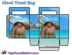 Maui Printable Treat Bag by SKGaleana | Free Moana Printable Crafts, Activities and Party Supplies