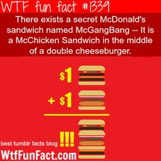 mcdonalds - sandwich  McGangBang MORE OF WTF FUN FACTS are coming HERE food, HEALTH  and fun facts