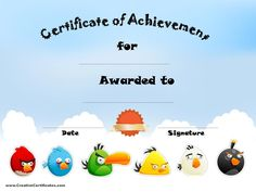 Certificate of Achievement                                                                                                                                                                                 More