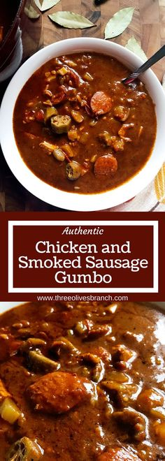 Straight from NOLA this Authentic Chicken and Smoked Sausage Gumbo is a cold weather staple in our house. Smoky flavors will make this a favorite when you are craving soup or stew. Whether you make it spicy or mild it is great for game day! Creole Recipes, Cajun Recipes, Soup Recipes, Chicken Recipes, Dinner Recipes, Cooking Recipes, Haitian Recipes, Sausage Recipes, Chicken Flavors