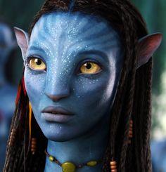 Neytiri(Avatar) played by Zoe Saldana here faced wondering?