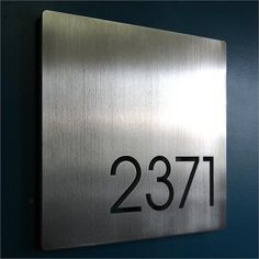 CUSTOM Minimalist Square House Number Sign in Aluminum address plaque