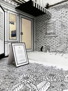 """I sketched a fairy-tale world, my inner world…  June, I proceeded a shop window project for """"ARTIFACTS"""" anniversary, It's a multi-brand boutique, showcasing contempora…"""
