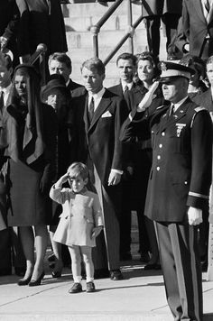 JFK funeral. Strong genes are just that. What a brave little soldier.
