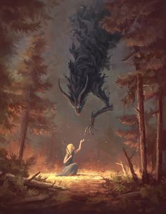 Uploaded by Nyctophilia. Find images and videos about girl, woman and fantasy on We Heart It - the app to get lost in what you love. Dark Fantasy Art, Fantasy Artwork, Fantasy World, Demon Artwork, Fantasy Demon, Daily Fantasy, Dark Artwork, Fantasy Forest, Forest Art