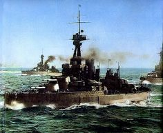 HMS Orion and other units of the Grand Fleet at sea