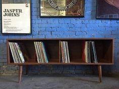 Modern Record Cabinet Credenza by TheHuntVintageLA on Etsy Vinyl Record Display, Record Shelf, Vinyl Record Storage, Stereo Cabinet, Record Cabinet, Blog Deco, Mid Century Style, Home Decor Bedroom, Retro