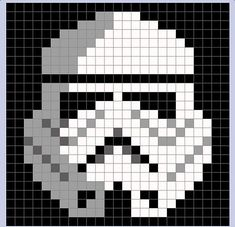 Star Wars Stormtrooper Pixel Blanket - Star Wars Stormtroopers - Ideas of Star Wars Stormtroopers - storm trooper pixel blanket Crochet Pixel, Star Wars Crochet, Crochet Stars, Crochet Afghans, Crochet Granny, Crochet Blanket Patterns, Baby Blanket Crochet, Knit Crochet, Pixel Crochet Blanket