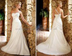 Ella WD39161 Simple One Shoulder A Line Wedding Dress