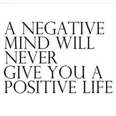 Be positive always!