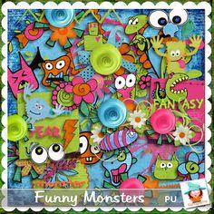 Funny Monsters by Kastagnette