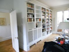 London radiator cover, covers, alcoves and bookshelves