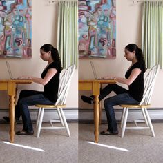 No need to suffer from a flabby lower body just because you have a desk job. Here's a move that will target your inner thighs as well as your quads. If your desk is fairly low, you might need to pull your chair a few inches back so you have room to lift your knee up.  Sit with a tall spine and both feet flat on the floor. Lift your right knee a couple inches off the ground and tilt your inner arch up toward the ceiling (this will bring your right knee out to the side a few inches). From this…