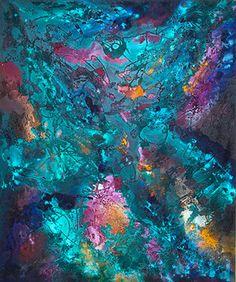 """opera astratta, titolo """"L'alchimista"""" sabbia, sassi, colori acrilici"""