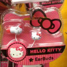 Hello Kitty ear buds- I LOVE HELLO KITTY!!