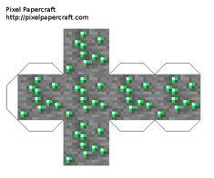 Papercraft All Ores (iron, lapis, diamond, coal, gold, quarts, emerald, redstone) Minecraft Room Decor, Minecraft Toys, Minecraft Creations, Minecraft Crafts, Minecraft Party, Minecraft Templates, Minecraft Tutorial, Minecraft Blueprints, Papercraft Minecraft Skin