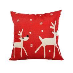 Christmas Lovely Pillow Case Sofa Waist Throw Cushion Cover Home Decor square Cotton Linen capas de almo Nov17