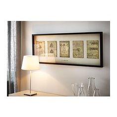 OLUNDA Bild mit Rahmen - for the wall next to glass cabinet