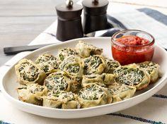 Fresh Pasta Rollatini with Spinach and Ricotta Recipe : Giada De Laurentiis : Food Network - FoodNetwork.com