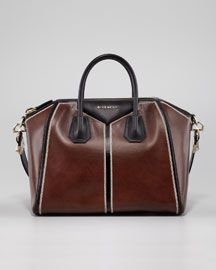 V1D5N Givenchy Antigona Colorblock Medium Satchel Bag, Brun