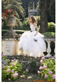 luxury vintage ball gown white wedding dress tulle fabric with purple flowers. Wedding Dress 2013, Wedding Dresses Photos, White Wedding Dresses, Designer Wedding Dresses, One Shoulder Wedding Dress, Bridal Gowns, Wedding Gowns, Tulle Wedding, Wedding Vendors