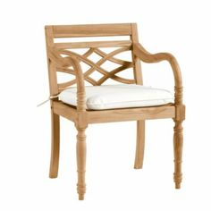 Ceylon Arm Chair with Cushion | Ballard Designs