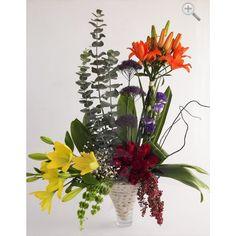 Original arreglo floral con lilis