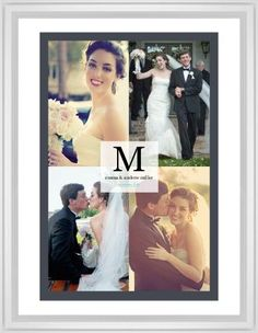 Classic Initial Framed Print, White, Classic, None, White, Single piece, 24 x 36 inches, Grey
