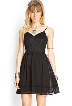 Lace-Detail Cami Dress | FOREVER21 #F21Contemporary