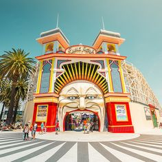 Retro cool Luna Park in Melbourne Australia. Processed in Lightroom Visit Australia, Melbourne Australia, Australia Travel, Melbourne Victoria, Victoria Australia, Places In Melbourne, Federated States Of Micronesia, Australian Continent, Abstract City