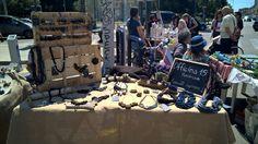 il mio banchetto per un mercatino artigianale a lecce! #handmade #market #accessori #mercatinoartigianato