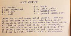 Lemon Dessert Recipes, Lemon Muffins, Baking Soda, Lemon Cupcakes