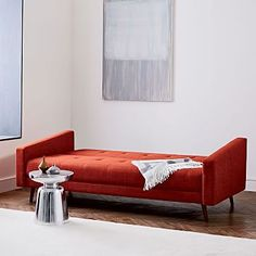 West Elm Kiko Futon Sofa  Available in Marine or Charcoal (can fodl up back so it's a sofa)