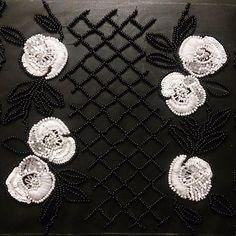 #alexkonkra #lunevilleembroidery #luneville #embroideryart #embroideryfashion… Zardosi Embroidery, Tambour Embroidery, Embroidery Motifs, Embroidery Fashion, Embroidery Designs, Lesage, Bridal Sash, Thread Work, New Fashion Trends