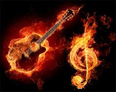 music on fire!