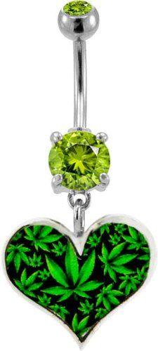 Cute! weed Leaf Heart Belly Ring --- http://www.amazon.com/gp/product/B00C7F6WDU/ref=as_li_ss_tl?ie=UTF8&camp=1789&creative=390957&creativeASIN=B00C7F6WDU&linkCode=as2&tag=420life-20
