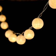 Light cream Ambient Ball LED fairy lights created from fine cotton thread, handspun to form light durable mesh that diffuses the light into a stunning soft ambient glow. Lantern String Lights, Led Fairy Lights, White Led Lights, Ball Lights, Outside Lanterns, Paper Light, Grunge Room, Tv Decor, Quirky Gifts
