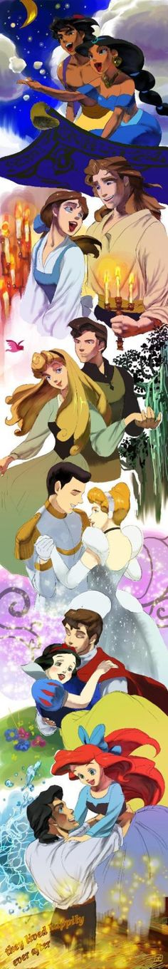Princesses and their Princes in their Happy Endings