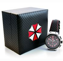 Capcom Store Exclusive! Show your Resident Evil™ love in style with this gorgeous watch. This high-quality collectible watch is a must have for any Resident Evil™ collector!  Designed by The Capcom Store in collaboration with premium watchmaker Meister.
