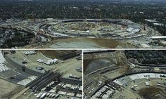 Apple's 'spaceship' takes shape: Footage reveals more about Campus 2 #DailyMail