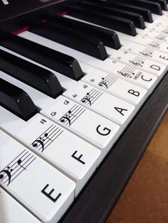 Keyboard / Piano Stickers up to 88 Keys the best way to by Hannott