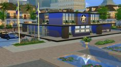 Willow Creek's PD #sims4 #communitylot #policestation